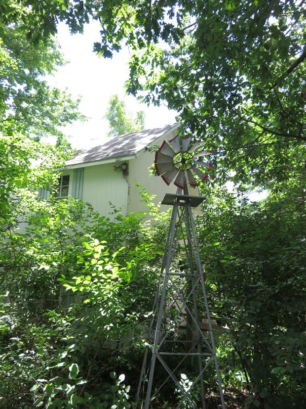 Bob Labadie had this windmill made to place near the barn. It takes viewers back to another era when windmills had the job of pumping water for his historic 1886 home.