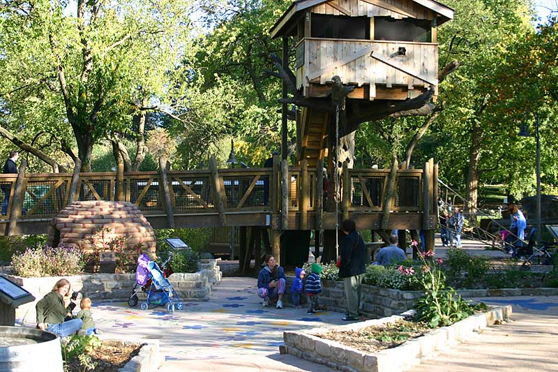 Many Activities Abound In The Childrenu0027s Garden, Including A Tree House.